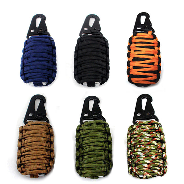 Carabiner Paracord 550 Grenade Survival Kit for fishing hunting rescue