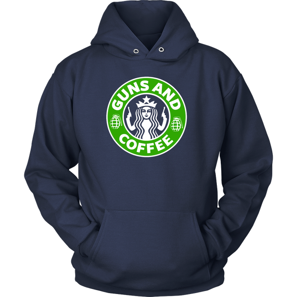 Happiness is Guns and Coffee T-shirt, hoodie, long sleeve and women's
