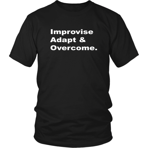 EliteSurvivor Improvise Adapt and Overcome T shirt FREE Shipping