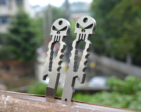 "EDC Stainless Steel Skull ""Punisher"" Pocket Multitool"