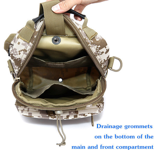 "MissionCritical ""The Sentry"" Military Tactical Sling Pack Multiple Colors"