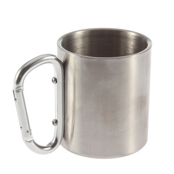 stainless steel double walled camping travel mug