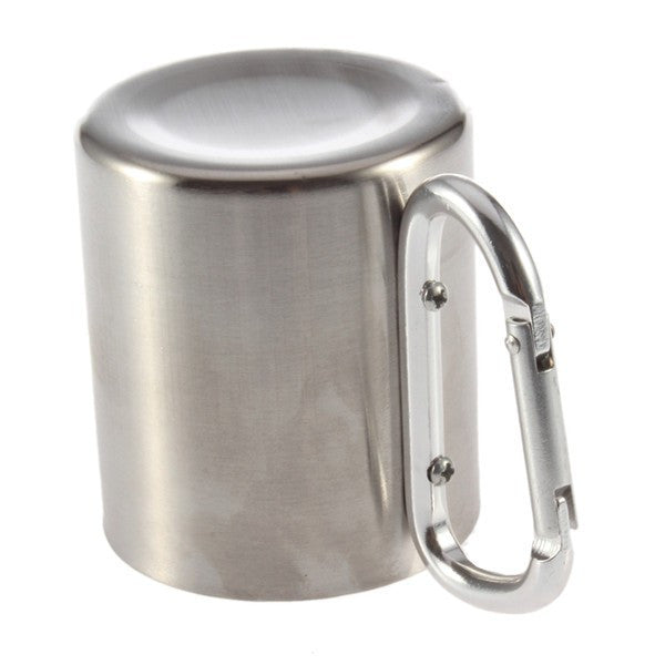 Stainless Steel Camping Double Walled Travel Mug 180ml
