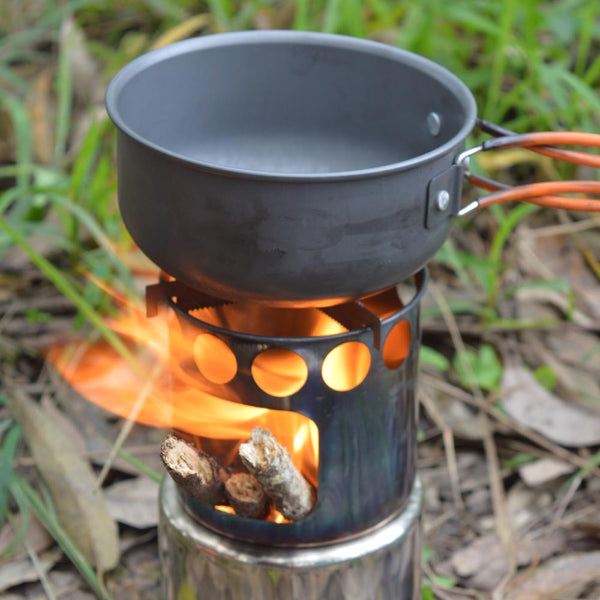 Portable lightweight stainless steel cooking stove environmentally friendly--green