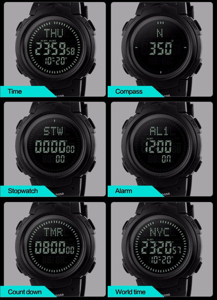 MissionCritical The Striker Survival Watch with Compass