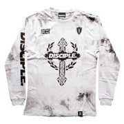 Grey Tie Dye Long Sleeve