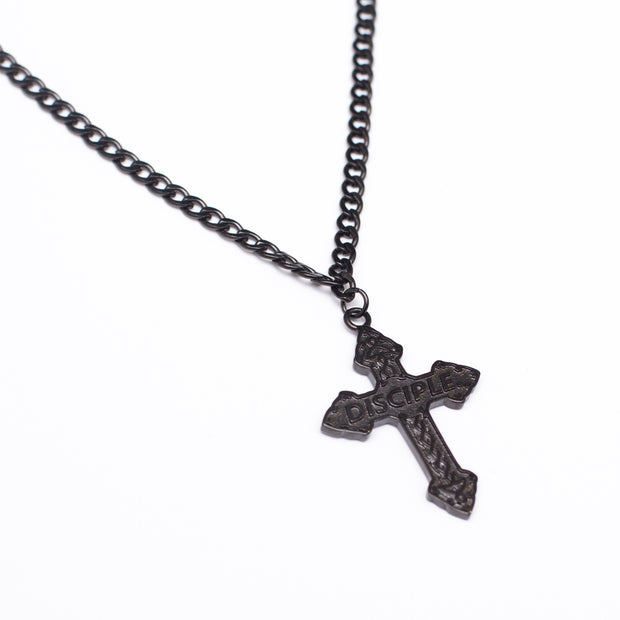 Crucifix Necklace (Black)