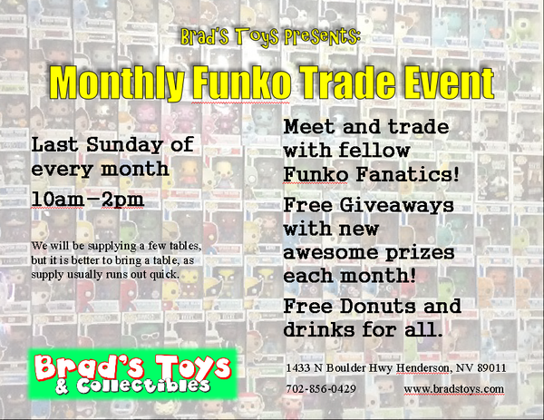 monthly funko trdae event