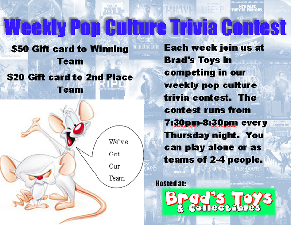 Weekly Pop Culture Trivia Contest