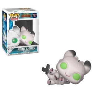 Funko Pop! Movies #727  Night Lights White (How to Train Your Dragon) - Brads Toys