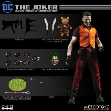 Mezco One:12 THE JOKER Clown Prince of Crime Edition - Brads Toys