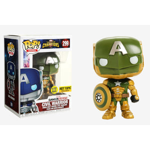 Funko Pop! Games #299 CIVIL WARRIOR Secret Empire Glow-in-the-Dark (Contest of Champions) Hot Topic Exclusive - Brads Toys