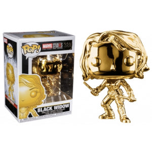 Funko Pop! Marvel #380 BLACK WIDOW Gold Chrome (Marvel Studios Ten Years) - Brads Toys