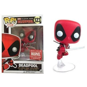 Funko Pop! Marvel #123 DEADPOOL Leaping Marvel Collector Corps Exclusive - Brads Toys