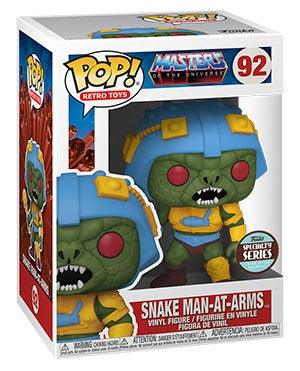 Pop! Retro Toys SNAKE MAN-AT-ARMS Specialty Exclusive (Masters of the Universe)(Available for Pre-Order)