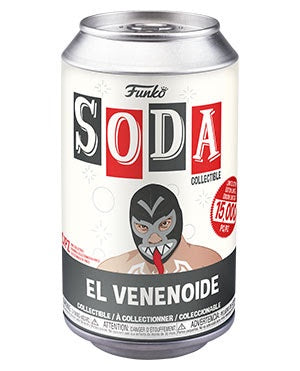 Vinyl Soda VENOM w/Chase (Luchadores)(Marvel)(Available for Pre-Order)