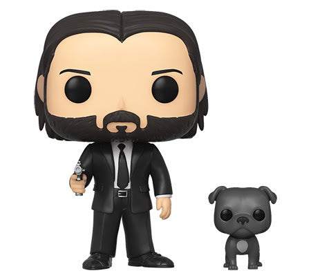 Funko Pop! & Buddy JOHN WICK Black Suit w/Dog (Available for Pre-Order)