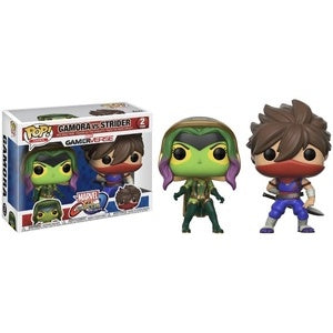 Funko Pop! Games GAMORA vs. STRIDER 2 Pack (Marvel vs. Capcon Infinite) - Brads Toys