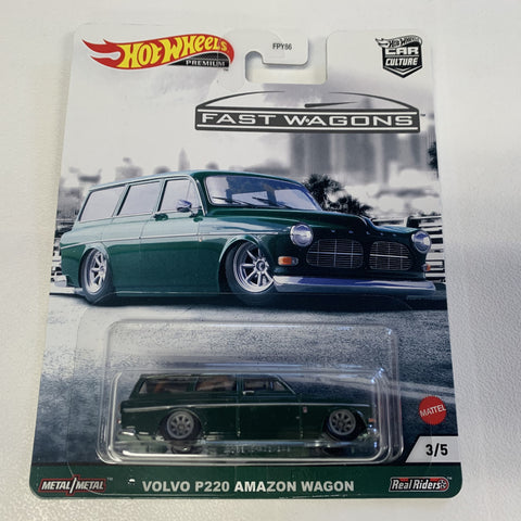 MTFPY86C1 Hot Wheels Car Culture Fast Wagons Mix 2 VOLVO P220 AMAZON WAGON