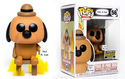 Pop! Icons THIS IS FINE DOG (Entertainment Earth Exclusive)