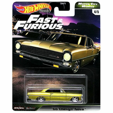 Hot Wheels Premium  Motor City Muscle Fast & Furious '66 CHEVY NOVA (Fast Five)