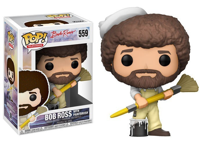 Funko Pop! Television #559 BOB ROSS w/ Paintbrush - Brads Toys