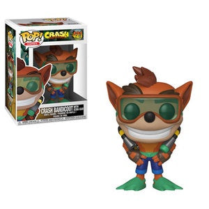 Funko Pop! Games #421 CRASH BANDICOOT in Scuba Gear - Brads Toys