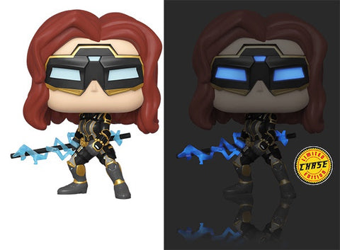 Pop! Marvel Avengers BLACK WIDOW Stark Tech Suit w/Glow Chase Variant (Available for Pre-Order) - Brads Toys