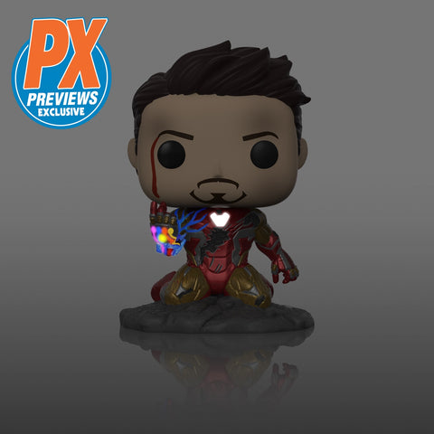 Funko Pop! Marvel I AM IRON MAN! PX Exclusive Glow (Avengers Endgame)(Available for Pre-Order) - Brads Toys