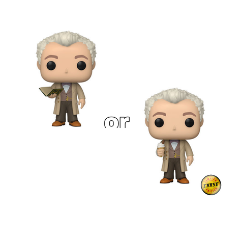 Pop! TV AZIRAPHALE w/BOOK w/Chase (Good Omens)(Available for Pre-Order)