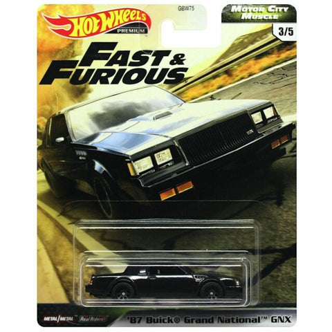 Hot Wheels Premium Motor City Muscle '87 BUICK GRAND NATIONAL GNX (Fast & Furious)