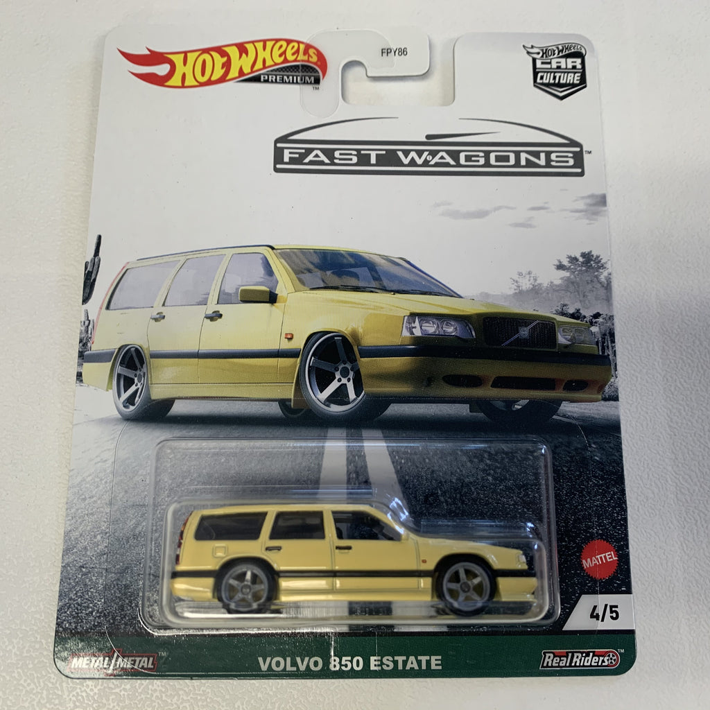 MTFPY86C1 Hot Wheels Car Culture Fast Wagons Mix 2 VOLVO 850 ESTATE