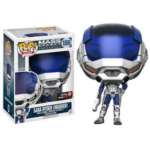 Funko Pop! Games #186 SARA RYDER Masked (Mass Effect Andromeda) Gamestop Exclusive - Brads Toys