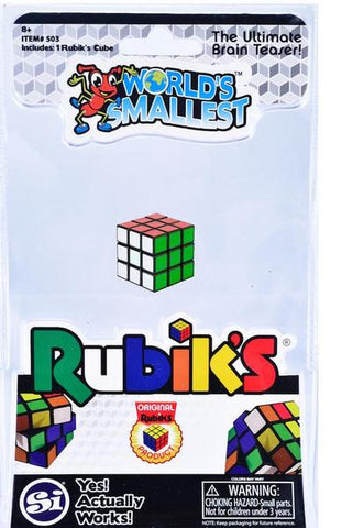 RUBIKS CUBE WORLDS SMALLEST