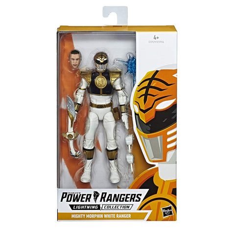 Power Rangers Lightning Collection MIGHTY MORPHIN WHITE RANGER - Brads Toys