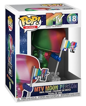 Pop! Icons #18 Metallic MTV MOON PERSON (Available for Pre-Order)