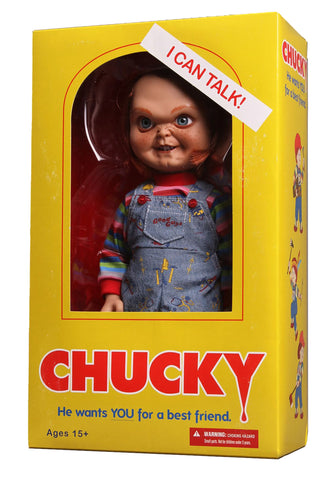 "Mezco Talking Sneering 15"" CHUCKY (Child's Play 2) - Brads Toys"