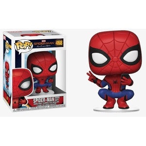 Funko Pop! Marvel #468 SPIDER-MAN Hero Suit (Far From Home) - Brads Toys