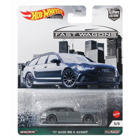 MTFPY86C1  Hot Wheels Car Culture Fast Wagons Mix 2 17 AUDI RS 6 AVANT