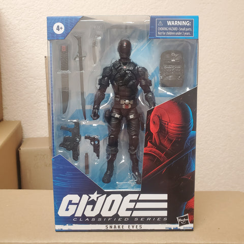 SNAKE EYES Classified Series GI JOE 6 INCH