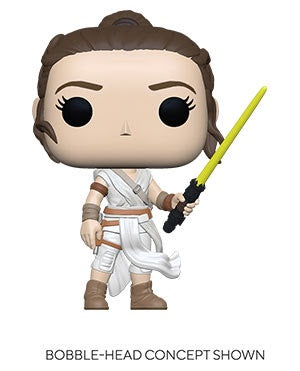 Pop! Star Wars REY w/YELLOW SABER (SW Ep 9)(Available for Pre-Order)