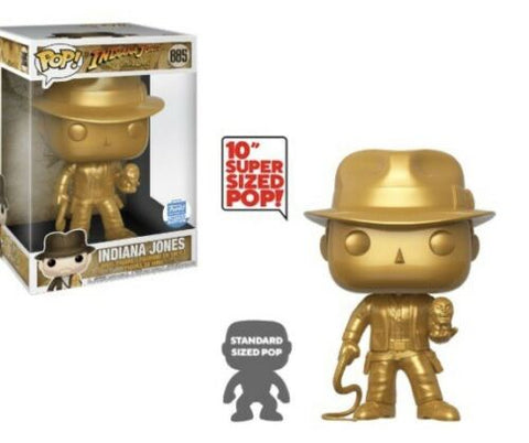 "GOLD INDIANA JONES 10"" Funko Shop Exclusive"