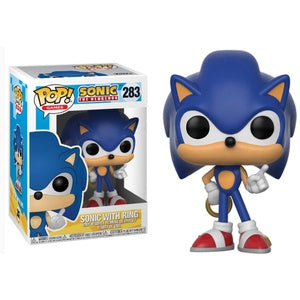 Pop! Games #283 SONIC w/RING (Sonic the Hedgehog)