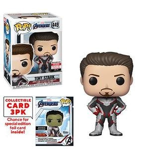 Funko Pop! Marvel #449 TONY STARK (Avengers Endgame) Entertainment Earth Exclusive - Brads Toys