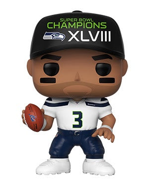 Funko Pop! NFL Russell Wilson (Seahawks SB Champions XLVIII)(Available for Pre-Order)