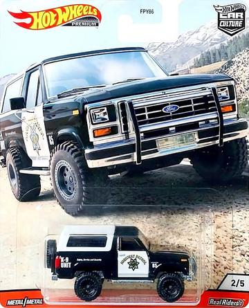 Hot Wheels Premium Car Culture Wild Terrain '85 FORD BRONCO Real Riders