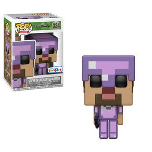 Funko Pop! Games #324 STEVE IN ENCHANTED ARMOR (Minecraft) Toys R Us Exclusive - Brads Toys