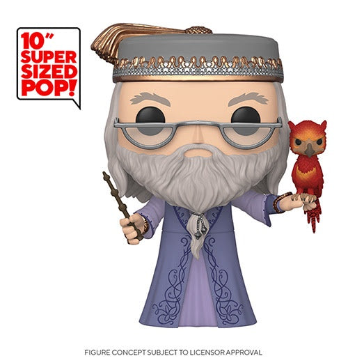 "Funko Pop! Harry Potter 10"" DUMBLEDORE w/FAWKES (Available for Pre-Order) - Brads Toys"