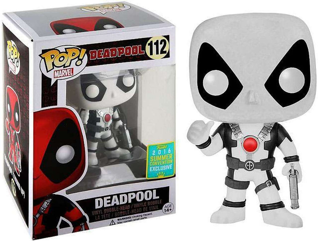 Funko Pop! Marvel #112 DEADPOOL White 2016 Summer Convention Exclusive - Brads Toys