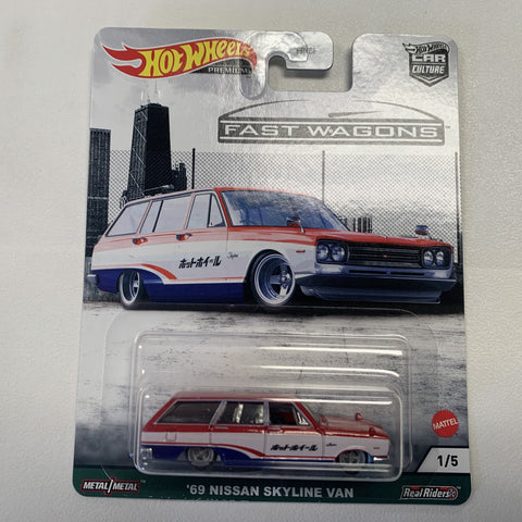 MTFPY86C1  Hot Wheels Car Culture Fast Wagons Mix 2 69 NISSAN SKYLINE VAN